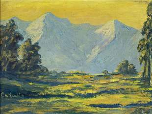 Charles Wesley Tamplin (CA,IL,1899-1953) oil painting