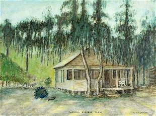 L W Romaine (FL,mid 20C) oil painting