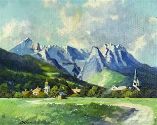 Fritz Alsmeier (German,early 20C) oil painting