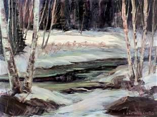 Lois Eastman Coates (Canada,US,b 1969) oil painting