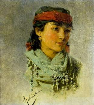 Rubens Santoro (Italy,Africa,1859-1942) oil painting