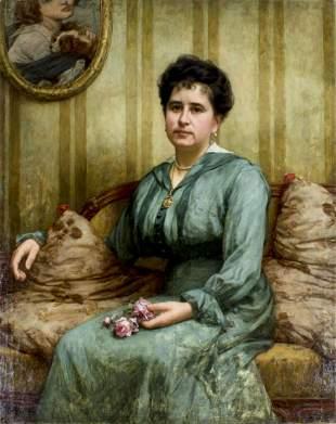 Jean Paul de Wit (Belgium,1851-?) oil painting antique