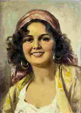 Enrico Frattini (Italy,1890-1968) oil painting
