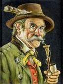Hans Bartenbach (German,1908-?) oil painting