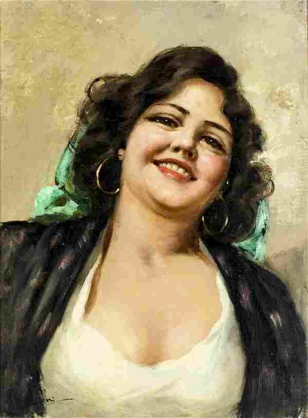 R Bettini (Italy,mid 20C) oil painting