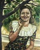 S M Clouse (US,mid 20C) oil painting