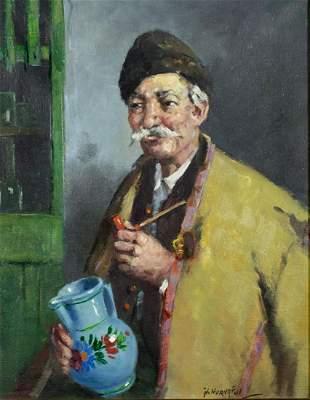 Istvan Horvath (Hungary,1904-1994) oil on canvas