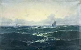 Max Jensen (German,1860-1908) oil painting antique