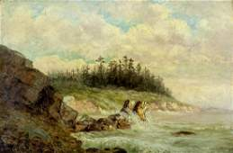 William Lees Judson (CA,1842-1928) oil painting antique