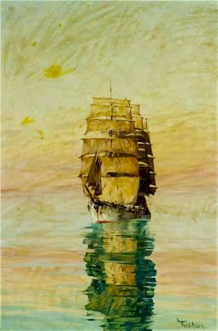 Willem van der Does (Dutch,1889-1963) oil painting