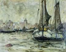 Toni Elster (German,1861-1948) oil painting