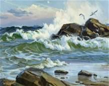 David Tutwiler (IN,b 1952) oil painting