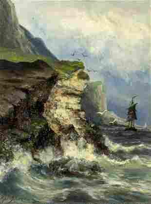 Gerard Koekkoek (Dutch,1871-1956) oil painting