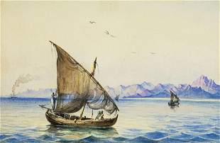 Gabriele Carelli (Italy,UK,1820-1900) watercolor