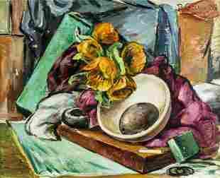 Bernard Geiser (OR,KS,1887-1965) oil painting antique