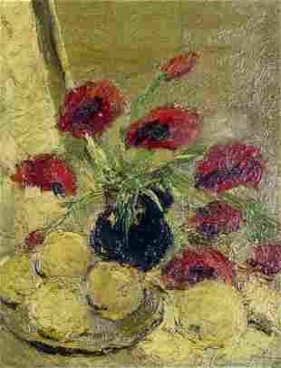Olga Kuncite (Latvia,Germany,1910-1982) oil painting