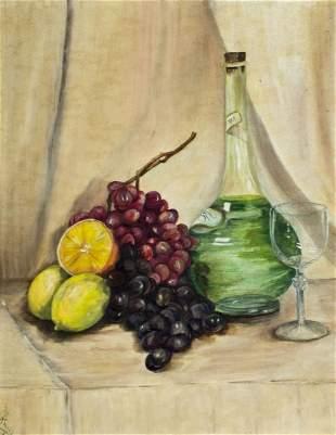 M Knoll (NJ,mid 20C) oil painting antique