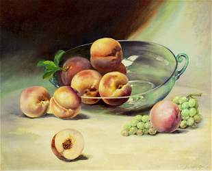 Stephen A Geitz (CA,WI,1892-1972) oil painting