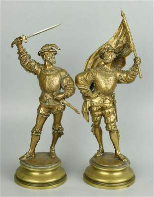 Emile Guillemin (French,1841-1907) Bronze Soldiers