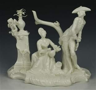 "Nymphenburg Bustelli figurine 273 ""Soldier and Girl"""