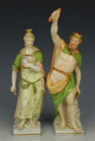 """KPM Berlin pair of figurines """"Zeus & Hera"""""""