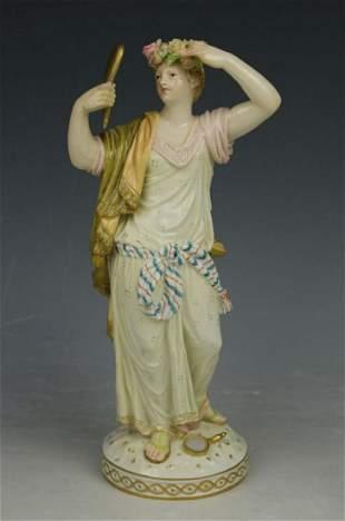 "KPM Berlin Figurine ""Woman with Mirror"""