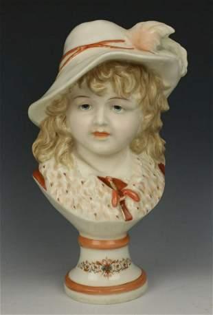 """German porcelain figurine """"Bust of Noble Boy"""""""