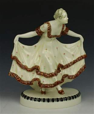 "Antique Austrian J. Meier figurine ""Dancing Lady"""