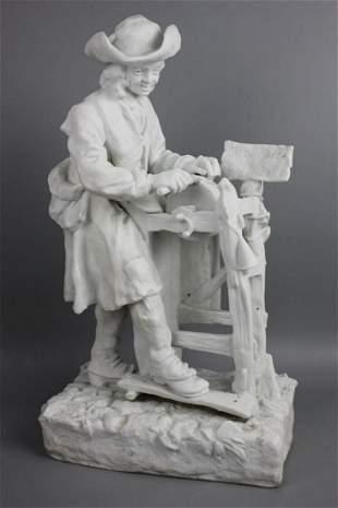 "Antique 18"" French figurine ""Jean Pierre Gagne Petit"""