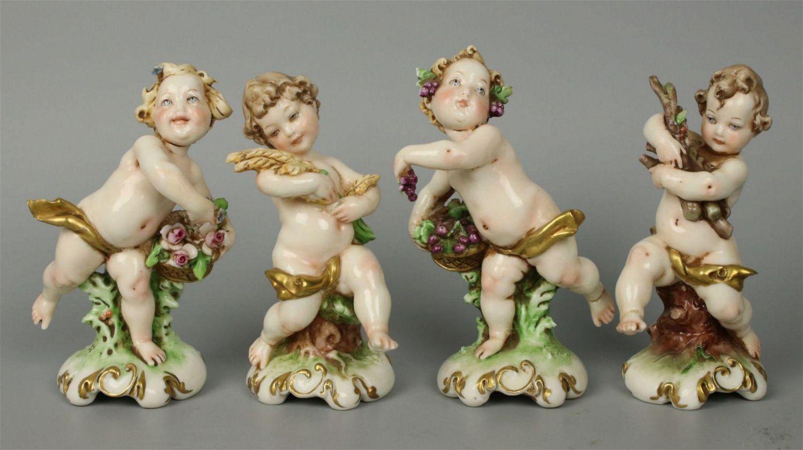 "Capodimonte Giuseppe Cappe set of 4 figurines ""4"