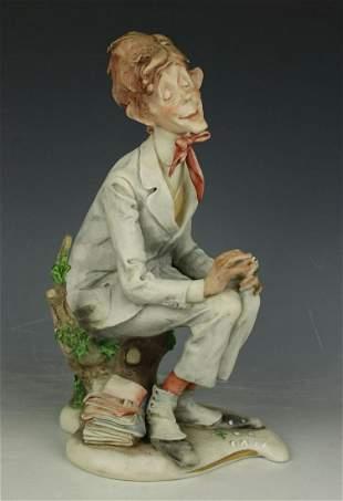 "Capodimonte Giuseppe Cappe Figurine ""First Love"""