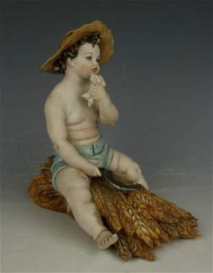 """Capodimonte Tiche Figurine """"Summer"""""""