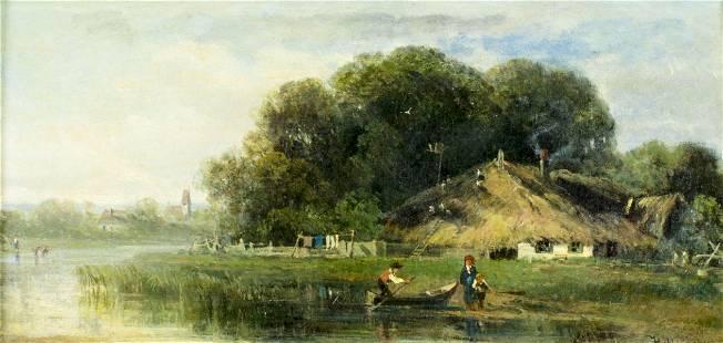 Clara Wagner Folingsby (NY,Germany,1839-1873) oil