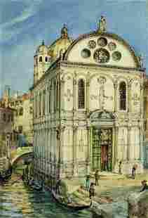 Julius Curter (Germany,Austria,1886-1963) watercolor
