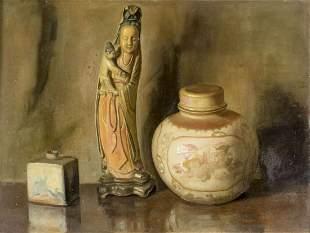 Gaspar Palminteri (Italy,France,20C) oil painting