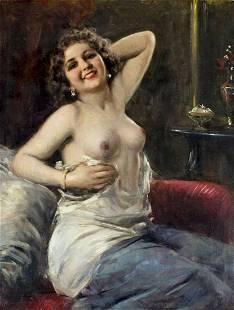 Attilio Toro (Italy,1892-1982) oil painting