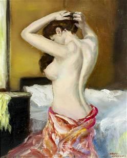 Karl Larsen (Denmark,1897-1977) oil painting