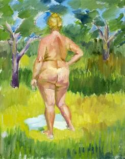 Dmitri Krapivny (russian,1904-1940) oil painting