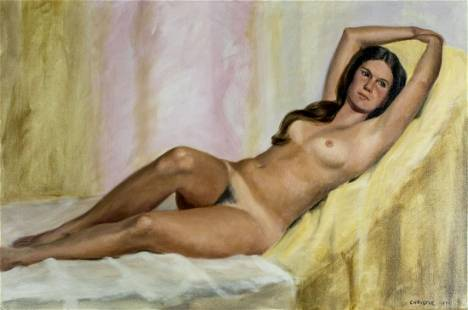 Christie (US,20C) oil painting