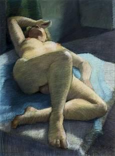Richard Hagg (US,20C) pastel painting