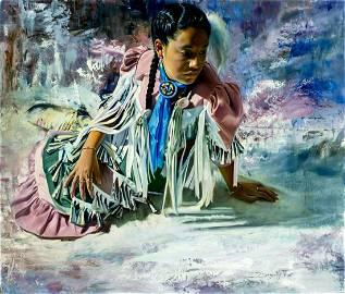 Ed Kucera (CO,CA,NE,b 1961) oil painting