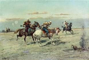 Louis Berton (France,US,19C) oil painting antique