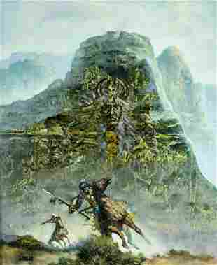 Gerald Bogard (US,20C) oil painting antique