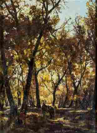 Von Rhein (US,20C) oil painting