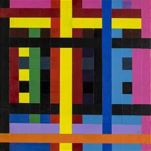 Gary Lang (NY,CA,b 1950) acrylic painting
