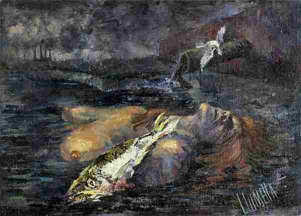 L Lumetta (US,20C) oil painting