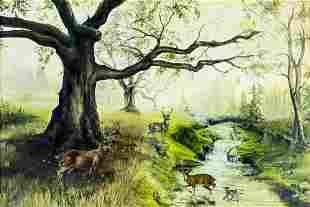 P Ragland (US,20C) oil painting