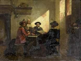 Hendricus Scheeres (Dutch,1829-1864) oil painting