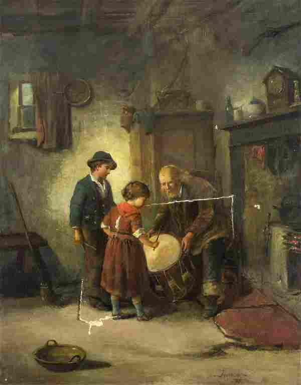 J Harrison (Europe,19C) oil painting antique