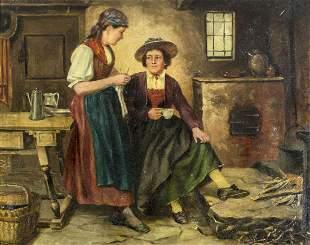A Von Martin (Europe, 19/20C) oil painting antique